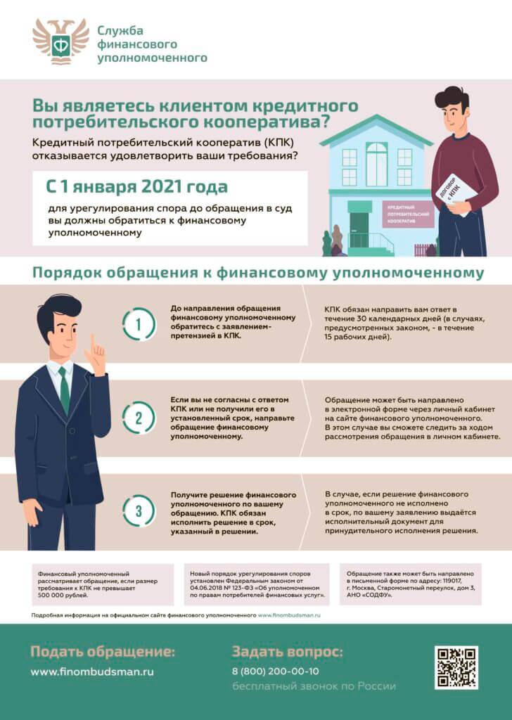 """Пайщики КПК """"РЦМ"""" вправе обратиться к финансовому уполномоченному"""